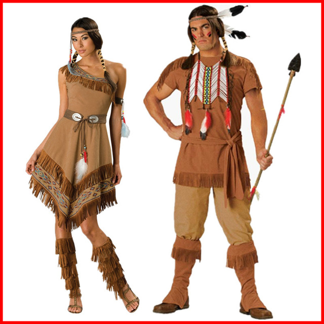 Cosplay Halloween Costume Dress Indigenous People Dress -8328