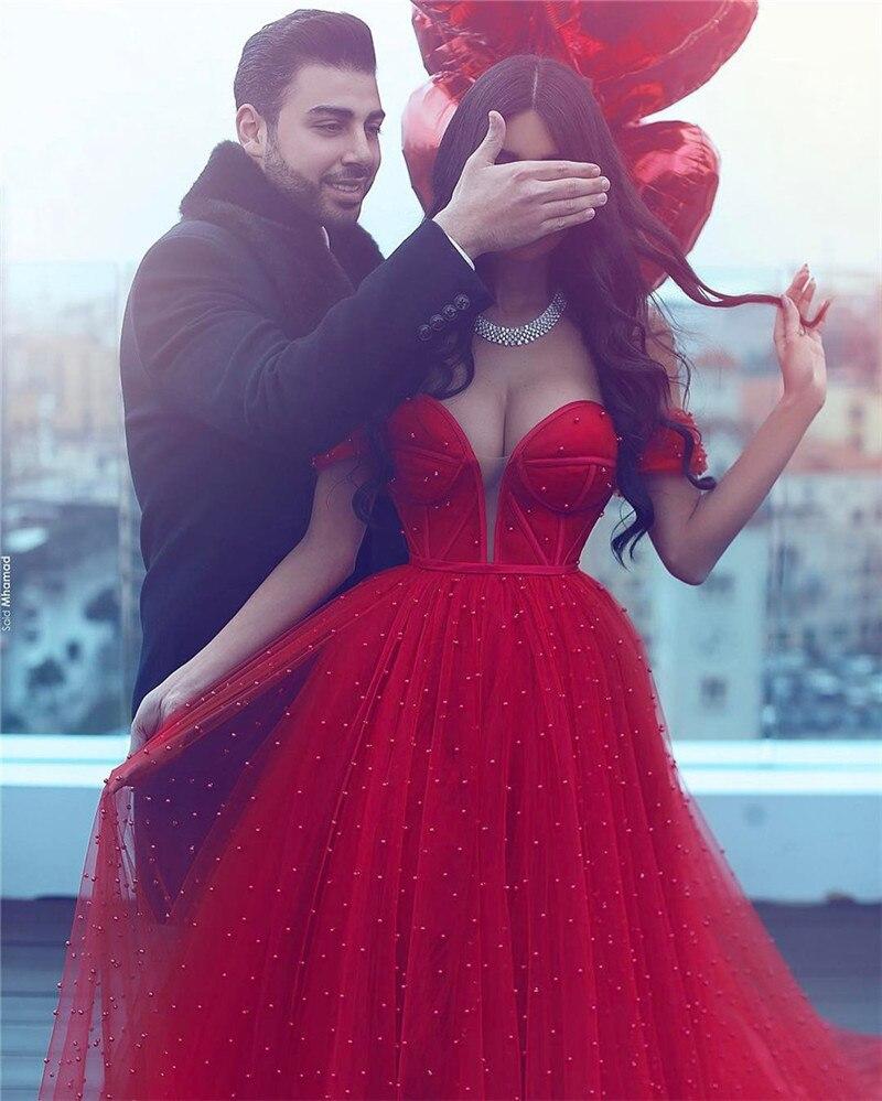 Vestidos de Novia vestido de Bola Roja Vestido de Boda Rebordear ...