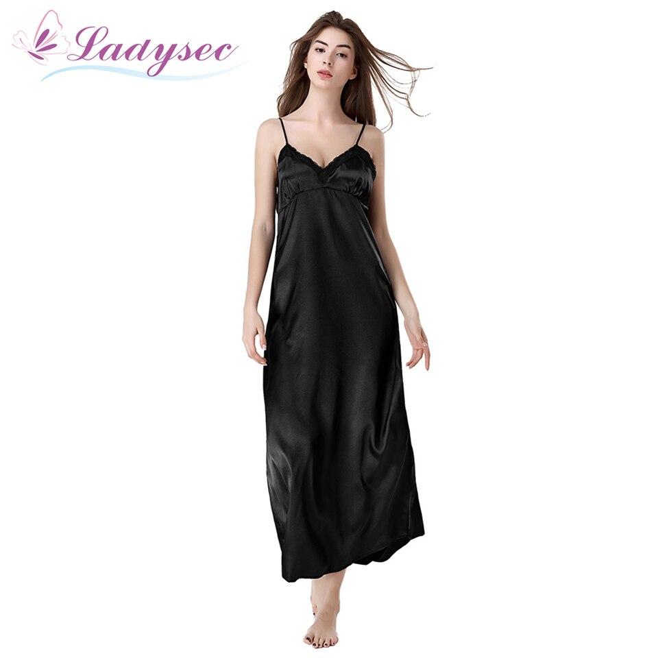Aliexpresscom  Buy Silk Long Nightgown Spaghetti Strap -1114
