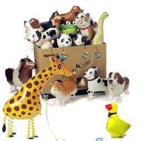 16 adet/grup Mix Hayvan Yürüme Balon Doğum Günü Parti Süslemeleri Çocuk Parti Iyilik Için