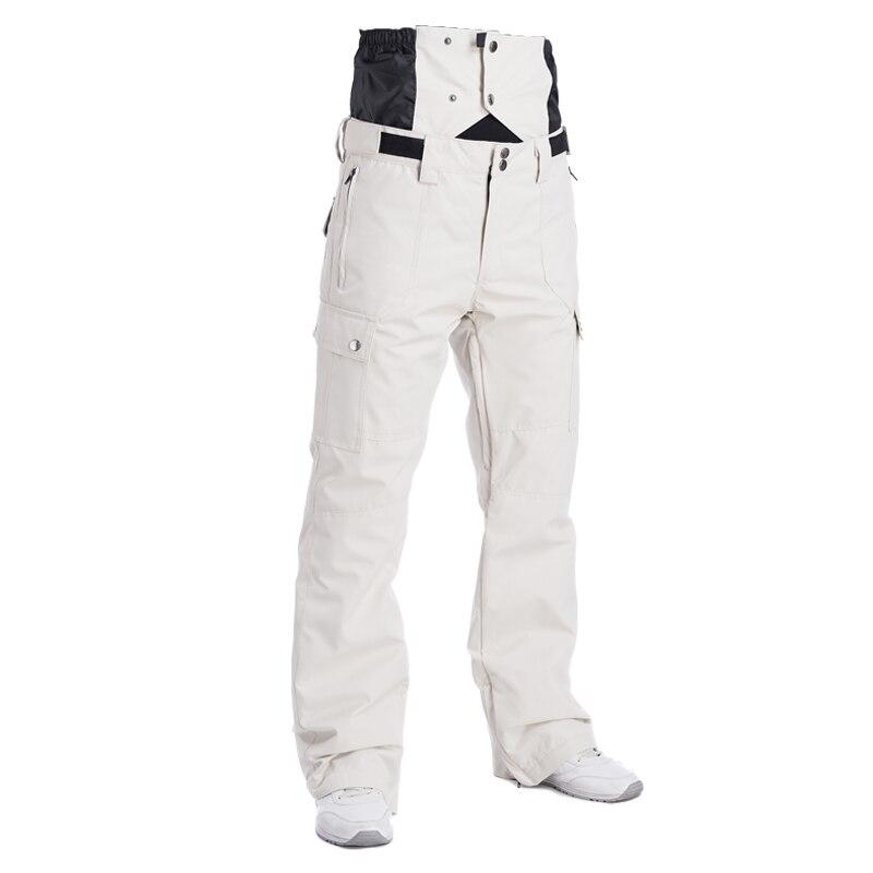 2018 Winter High Waist Ski Pants Men Waterproof Windproof Thermal Man Snow Pants Bib Suspender Male