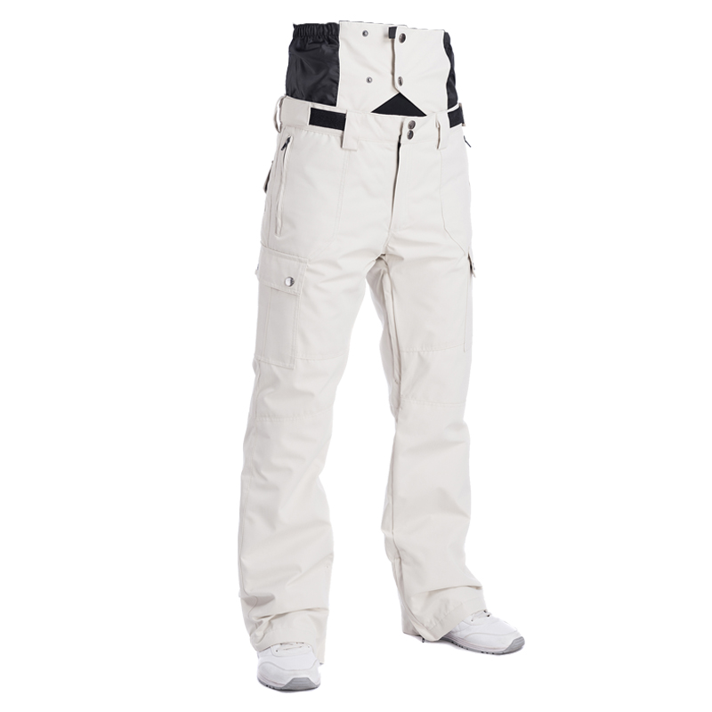 2018 Winter High Waist Ski Pants Men Waterproof Windproof Thermal Man Snow Pants Bib Suspender Male Snowboard Trousers Skiwear