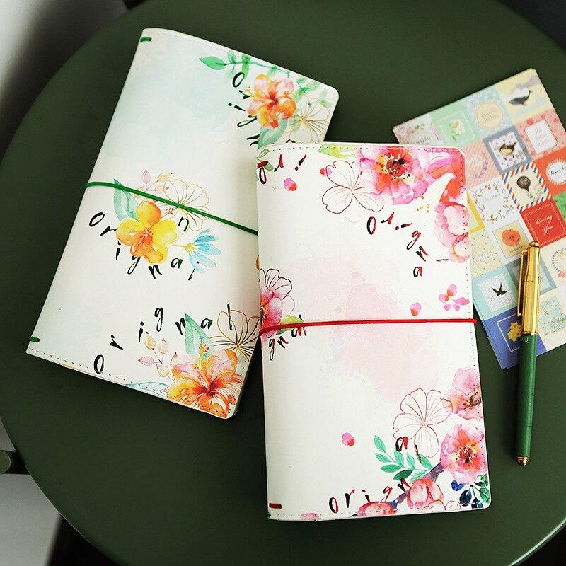 1 шт. Kawaii цветок расписание Note записная книжка Pad Sakura искусственная кожа еженедельник школьные офисные принадлежности канцелярские принадлежности BJB38