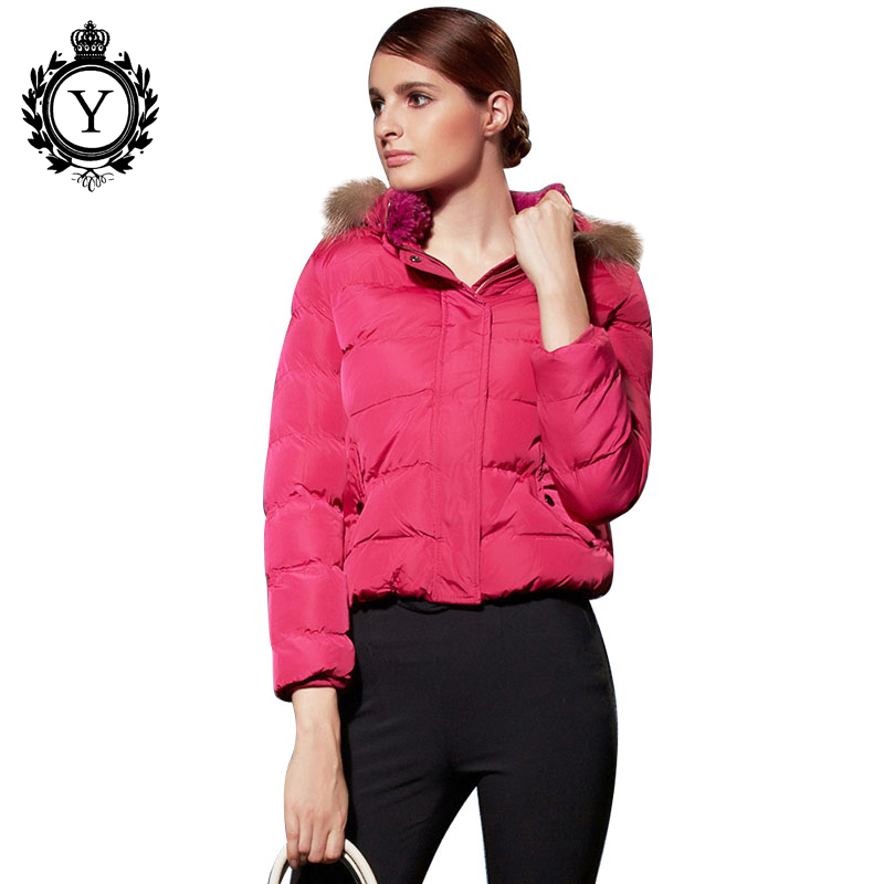 2017 New Fashion Fur Collar Women Winter Down Jacket Plus Size M-XL Female Warm Parka Padded Coat Ladies Winter Solid Short Wear цены онлайн