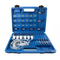 Flow Diagnostic Cylinder Diesel Injector Flow Test Kit Common Rail Cylinder Test Tool Kit Diesel Adaptor Set Leak Off Tester Kit