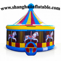 Customized  inflatable  Merry Go Round  bouncer , indoor playground ,carousel bouncy castle,round bounce house for kids