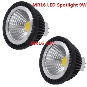 1 шт. Супер Яркий MR16 COB 9 Вт 12 Вт 15 Вт Светодиодный светильник MR16 12 в теплый белый холодный белый светодиодный светильник