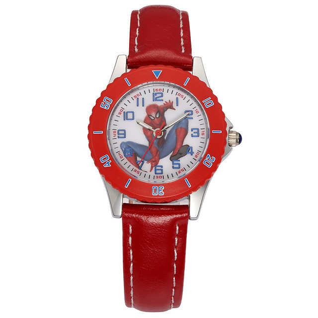 Disney brand children WristWatches Boys waterproof quartz cartoon kids watch leather  sport iron Man relogio boy clocks