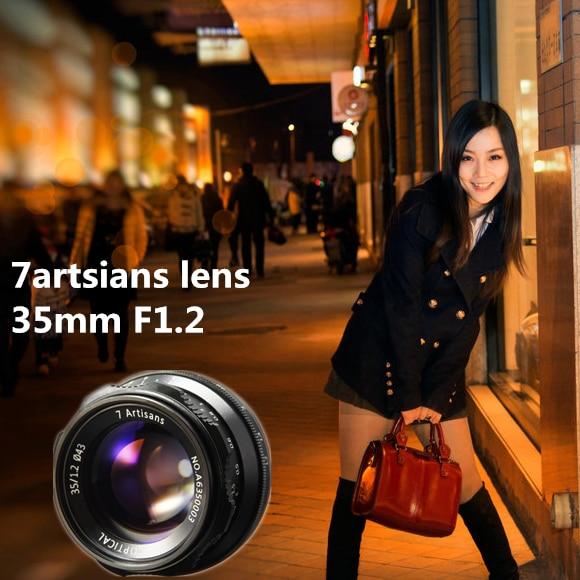 7artsians 35mm F1.2 APS-C Manual Fixed Lens For E Mount Canon EOS-M Mount Fuji FX Mount Hot Sale Free Shipping