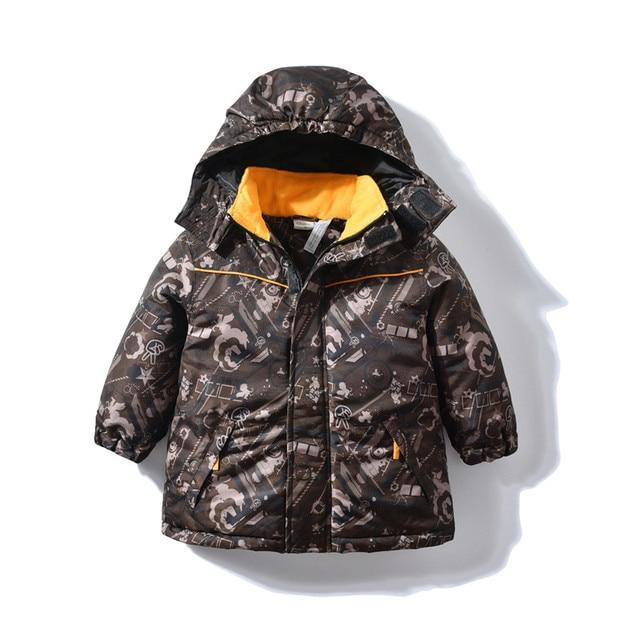 0db7c5501 Kids Parka Children Boys Snowsuit Winter Jacket Waterproof Coat 2018 ...