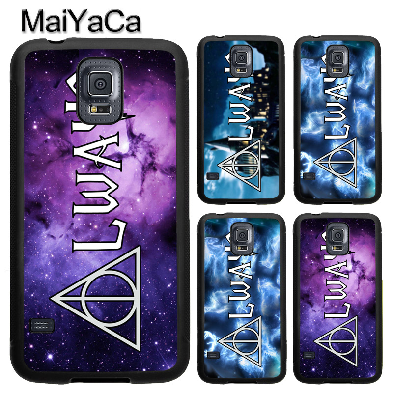 MaiYaCa Deathly Hallows Always Harry Potter Phone Case For Samsung S5 S6 S7 edge S8 S9 Plus Note 8 Note 5 Soft Rubber Capa Para