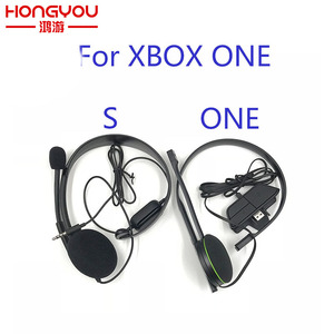 Image 1 - Original Black Wired Chat Chatting Gamer Headset Headsets Headphone With Mic For Xbox One for Microsoft XBOX ONE S version