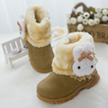 Girls kids cotton boots 2016 winter new children's snow boots baby suede shoes Infant cotton cartoon Short boots