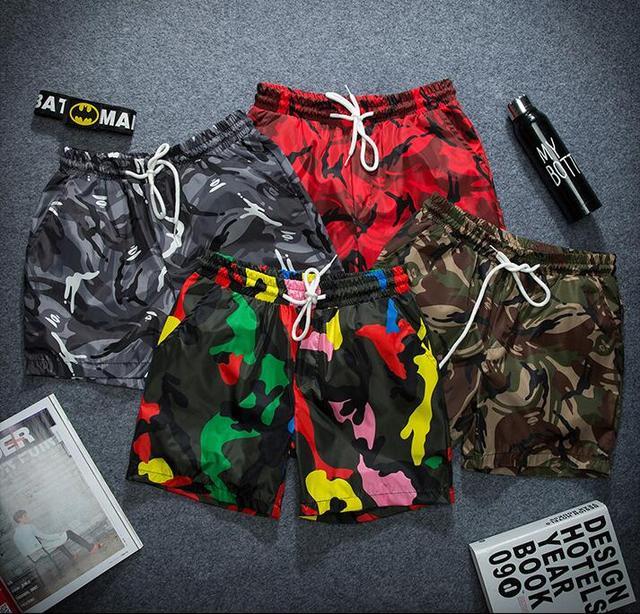 Man summer board shorts men travel beach shorts quick dry seaside bathing  outerwear men's short