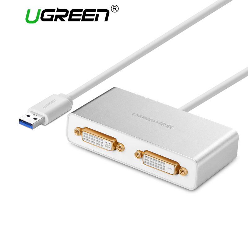 Ugreen USB 3.0 to Dual-DVI HDMI VGA External Multi-Display Adapter High Premium Converter Cable for Windows XP/Vista/7/8/8.1 ugreen multi all in 1 usb 3 0 to hdmi dvi vga video