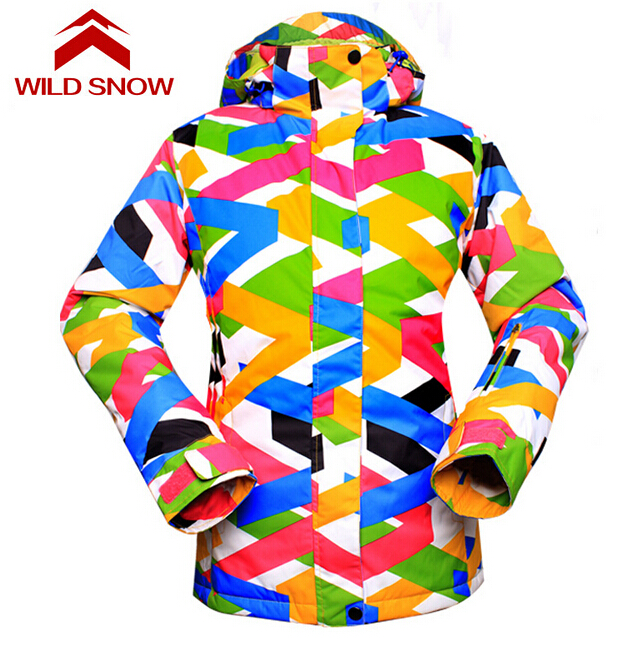 ФОТО Wild Snow Ski Jacket Women Warm Breathable Waterpoof Winter Outdoor Jacket Snowboard Female Snow Wear Ski Jacket
