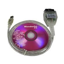 INPA K + DCAN USB 인터페이스 케이블 드라이버 프로그래밍 OBDII CAN 리더 진단 스캐너 INPA K DCAN 오류 코드 읽기 및 삭제