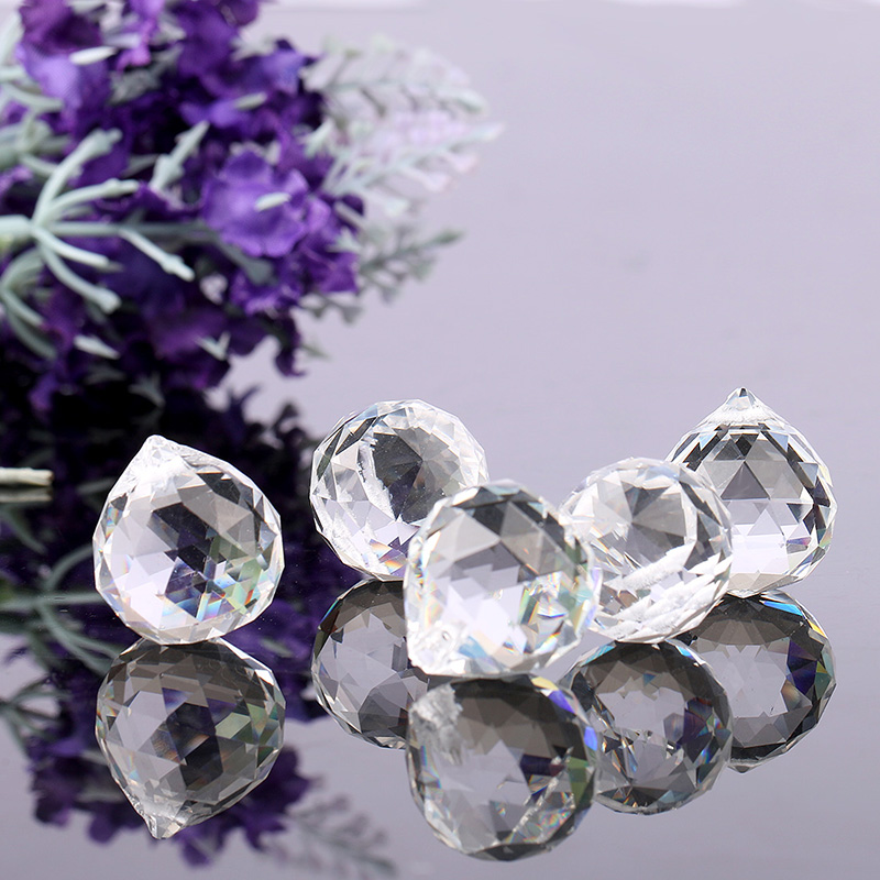 Crystal Chandelier Accessories: 5pcs/lot 20mm Faceted Glass Crystal Chandelier Parts