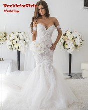 custom made charming mermaid long wedding dresses 2017 appliques lace sweetheart pearls women bridal gown for party