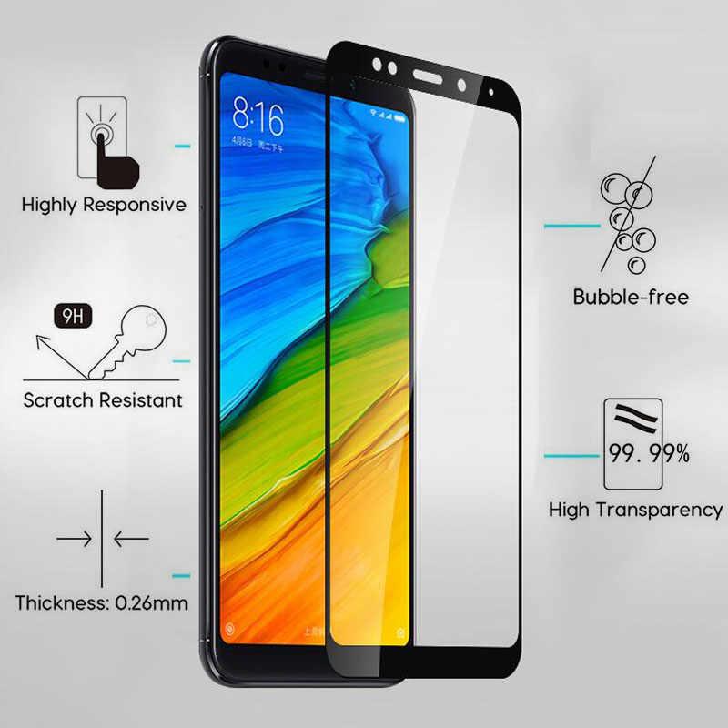 Pour Xiaomi Redmi 5 Plus protecteur d'écran en verre trempé pour Redmi 5plus 5 + verre de protection sur Redmi5 Redmi5plus Film couverture complète