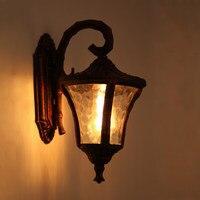 Américaine créative lampe de mur extérieur étanche jardin luminaires rétro métal appliques murales Edison applique murale éclairage