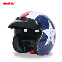 Motorcycle Vintage sun visor helmet 3/4 Open Face Helmets Ca
