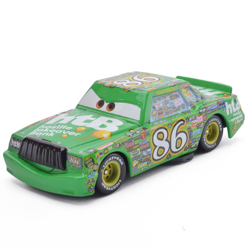 1:55 Metal Diecasts Toy Vehicles Disney Pixar Cars Number 86 Car Model Chick Hick HTB Cars Toy Children Birthday Christmas Gift