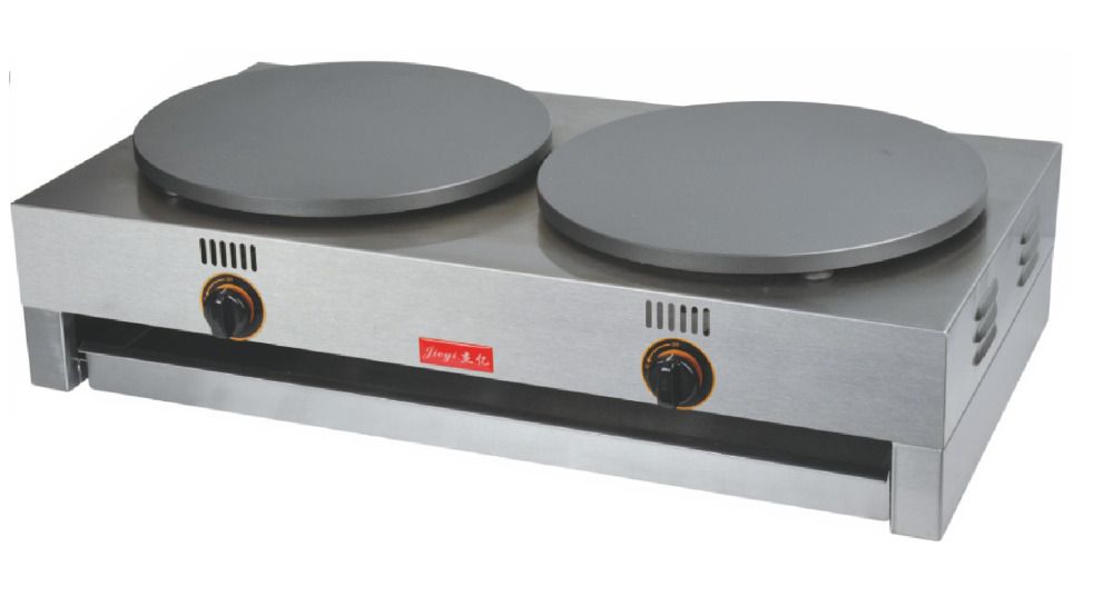 2.R Electric 400mm Double Pan Crepe Maker Commercial Pancake Baking Machine FYA - 2