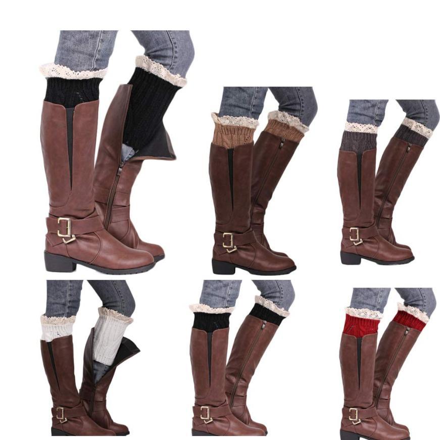 Black Friday VOT7 vestitiy Knitting Socks 20cm Adult Leg Warmers Boot Keep Warm Lace Short Socks,Aug 16