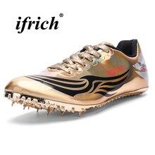 Спортивные и Полевые мужские кроссовки с шипами золотого и серебряного цвета, легкие удобные мужские кроссовки для бега
