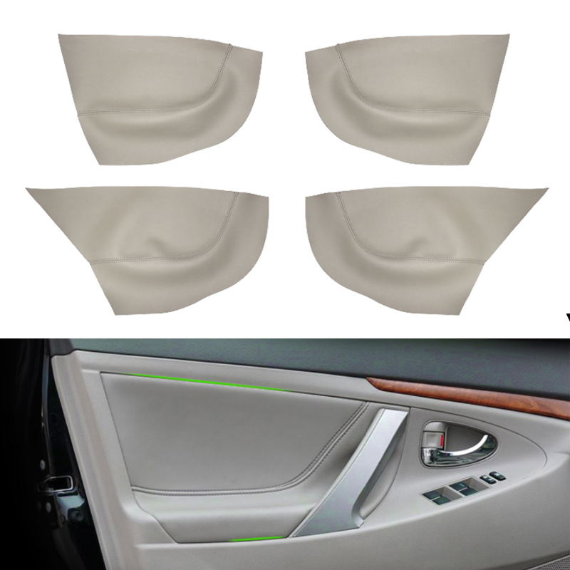 For Toyota Camry 2006 2007 2008 2009 2010 2011 2012 Car Door Handle Armrest Panel Microfiber Leather Cover-in Interior Mouldings from Automobiles & Motorcycles