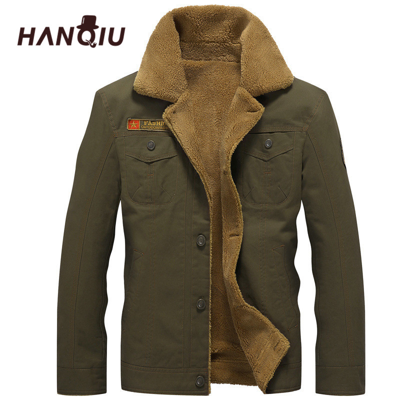 2019 Winter Bomber Jacket Men Air Force Pilot MA1 Jacket Warm Male fur collar Mens Army Tactical Jackets Plus Size 5XL image