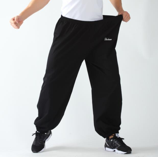 Summer Pants Men Male Fashion Joggers Sweat Pants Tide Loose Home Trousers Leisure Slacks Large Size XXXL Men's Thin Bottoms