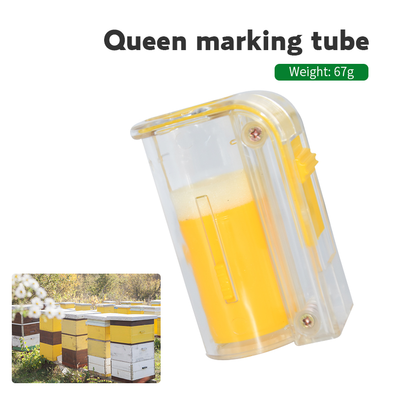 1pc Beekeeping Tools Bee Queen Marking Cage Apiculture Plastic Marker Plunger Plastic Bottle Capture Bee Queen Without Hurting