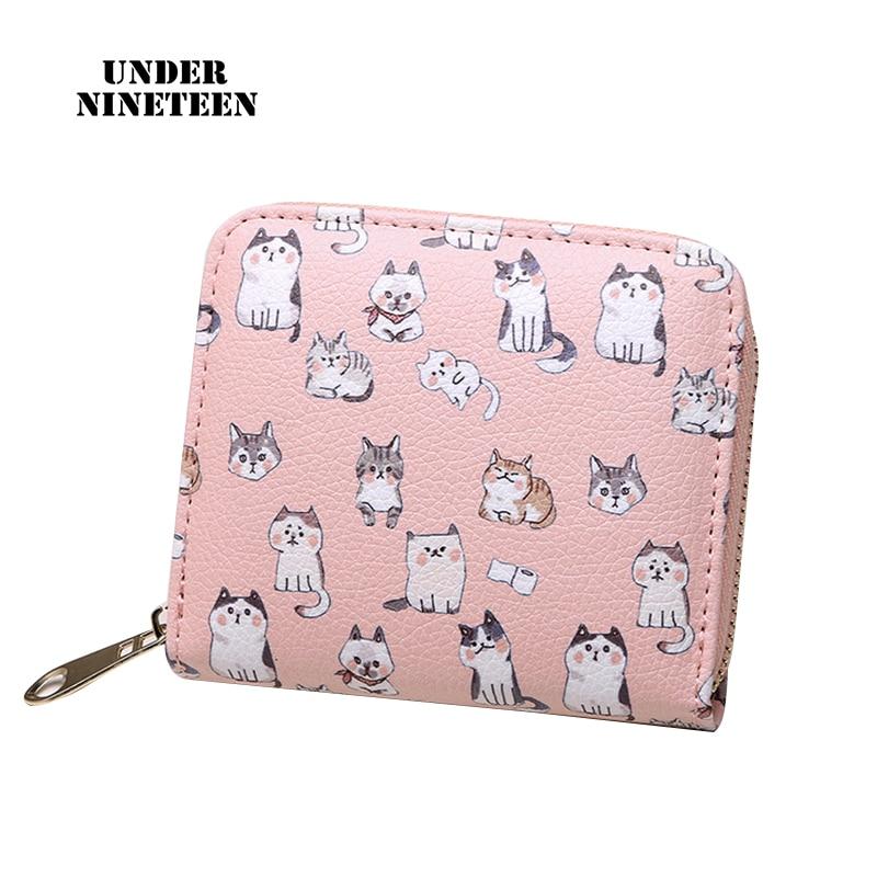Under Nineteen New Cute Kawaii Wallets Mini Fashion Women Girls Purse Card Holder Coin Purse Free Shipping Wholesale Custom