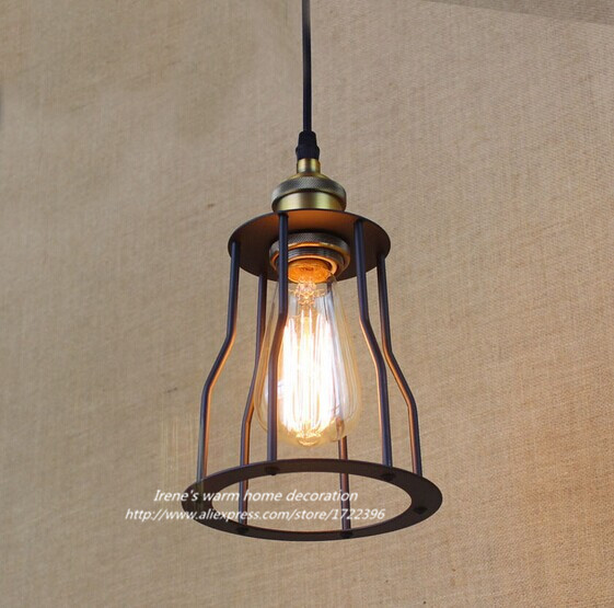 Retro Industrial Vintage American Country Loft Style Metal Pendant Light With 1 Light, For Bar Home Lights,E27*1 Bulb Included american country style iron loft single head pendant lights vintage industrial wrought metal lamps light for restaurant bar