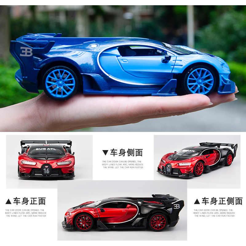 1:24 Simulasi Tinggi Bugatti GT Olahraga Balap Mobil Paduan Model Mobil Boutique Menampilkan Empat Pintu Mobil Mainan untuk Anak-anak hadiah