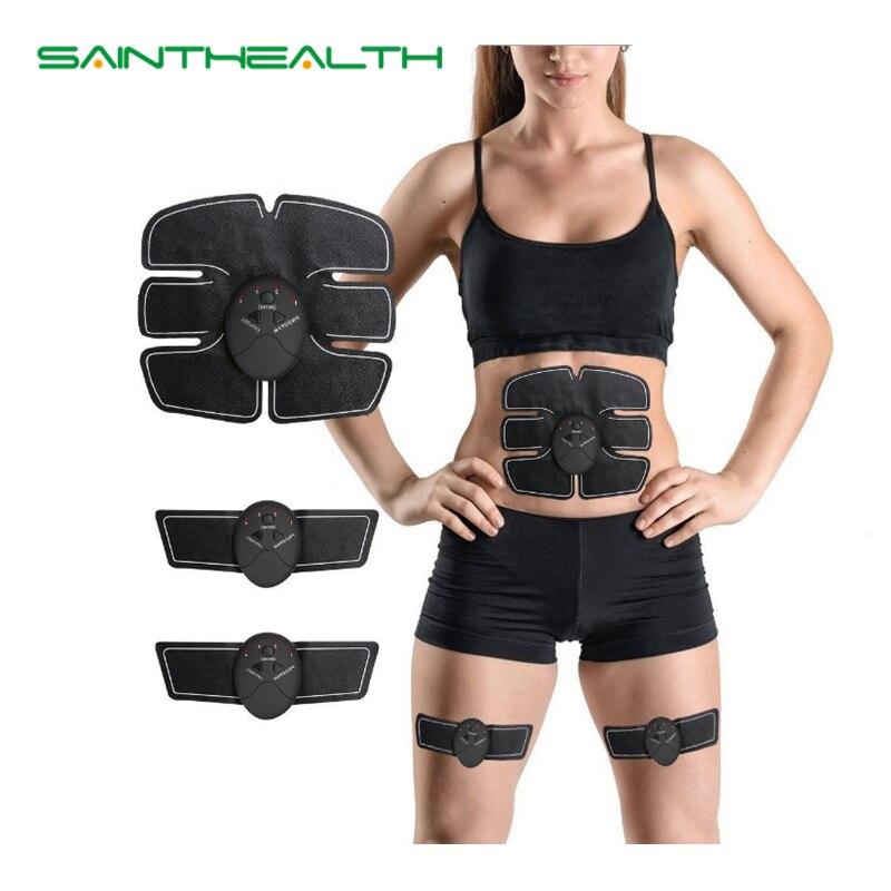 Bauch maschine elektrische muscle stimulator ABS ems Trainer fitness Gewicht verlust Körper abnehmen Massage mit weiß einzelhandel box