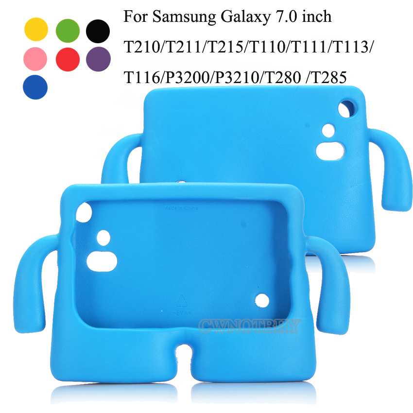 New Children For Samsung Tab 3 Tab 4 Lite 3  7.0 Inch Tablet Cover For Tab 3 T210 T2105 T230NU T235 T113 Kids EVA Silicon +Pen