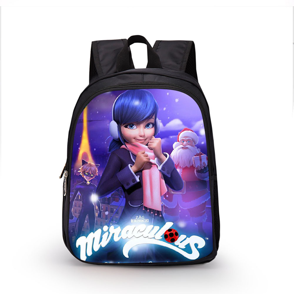 13 Inch Miraculous Ladybug Marinette Backpack Kids School Bags for Boys  Girls Schoolbag Kindergarten Child Bags ed9175d19cbb7