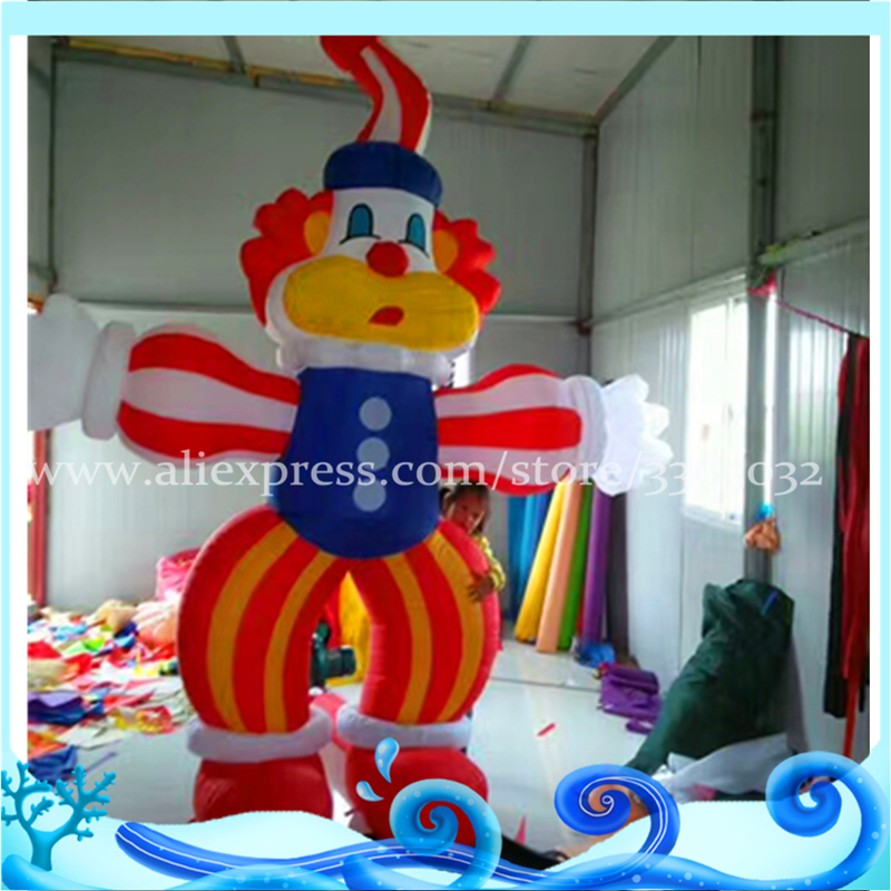 Advertising party decoration custom 3m high giant inflatable clown cartoon for sale