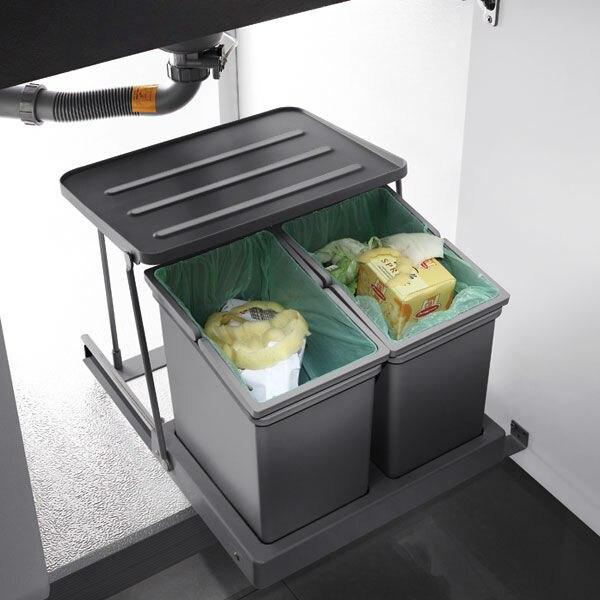 Bekend 2 Kamer ontwerp afvalbakken prullenbak voor keukenkast op wt 008 SB99