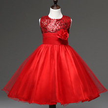 Summer 2017 New Girl Dress Baby Girls Dresses Princess Party TuTu Dress Sequins Decorative Baby Clothing Kids Clothes10 Color 28