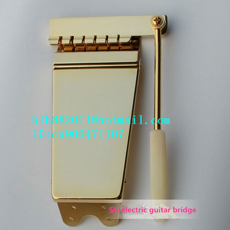 free shipping new SG electric guitar bridge in gold   HS-01