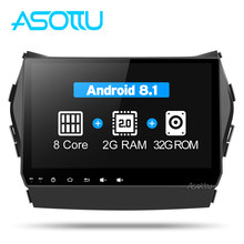 Asottu CIX459060 Android 8.1 Octa Núcleo T8 1 din vídeo do carro dvd gps radio player para Hyundai Santa fe IX45 2013 carro navigaton unidade(China)