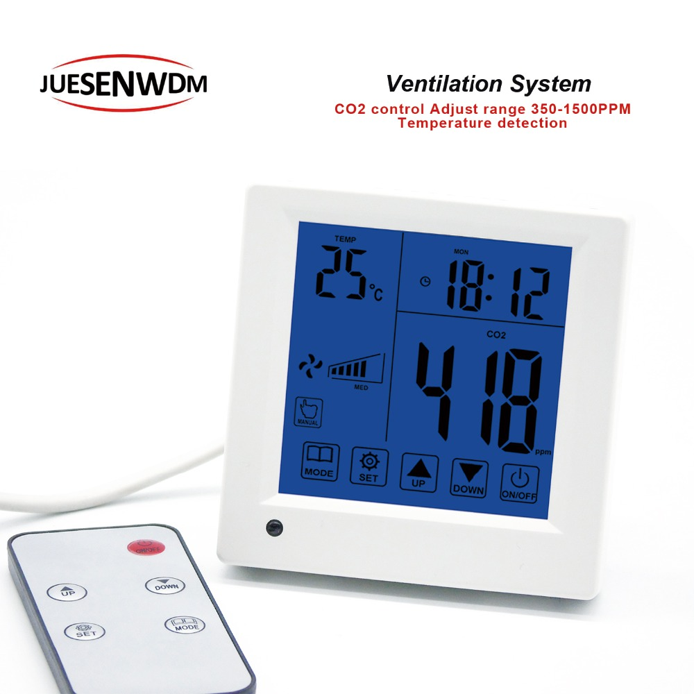 Remote control monitor detector co2 analyzers control Three speed ventilator for air system