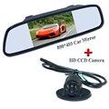 """Ccd hd Universal car rear view camera 360 angle lens + 5 """"de largura do carro tela espelho Sunvisor reservatório de plástico colocação"""