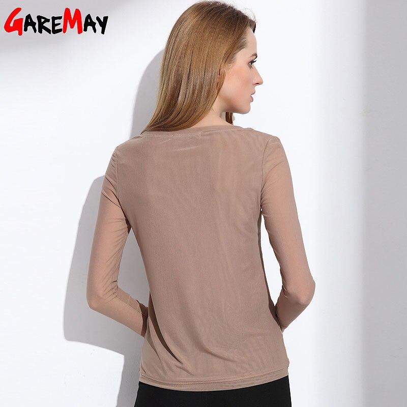 Camisas de mujer Blusas 2020 manga larga blusa de gasa formal mujeres - Ropa de mujer - foto 3