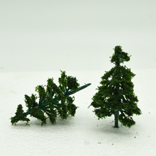 3/4/5/7/9CM green color  Railroad Layout Architectural model making materials scale plastic tree