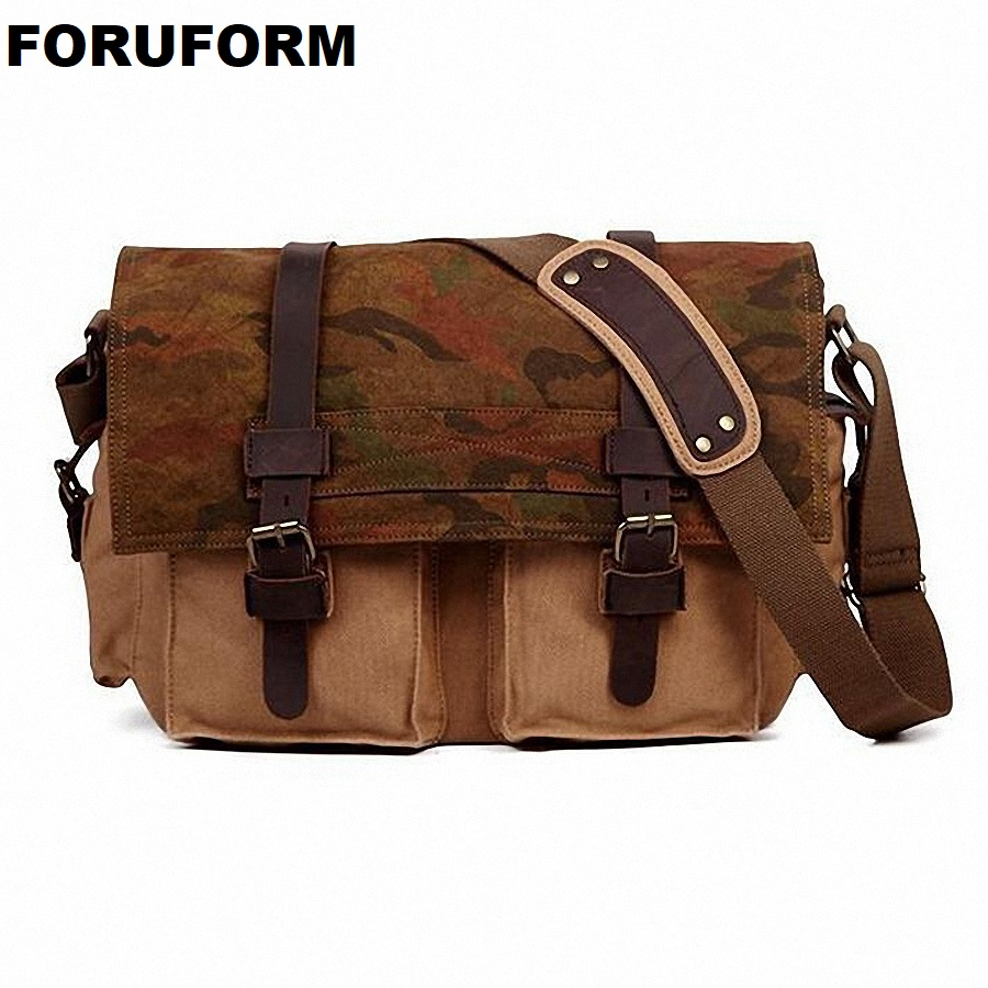 Hot Vintage New 2018 High Quality Canvas Men Messenger Bags Crossbody Bag Casual Bag Canvas Laptop Shoulder Bag For Men LI-1629 high quality canvas leather men postman bag wholesale messenger bag vintage canvas shoulder belt bags travel bags for men